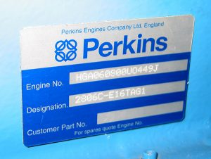 Perkins 2000 series Engine Plate